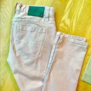 GUESS light pink stretchy skinny jeans size 29/32